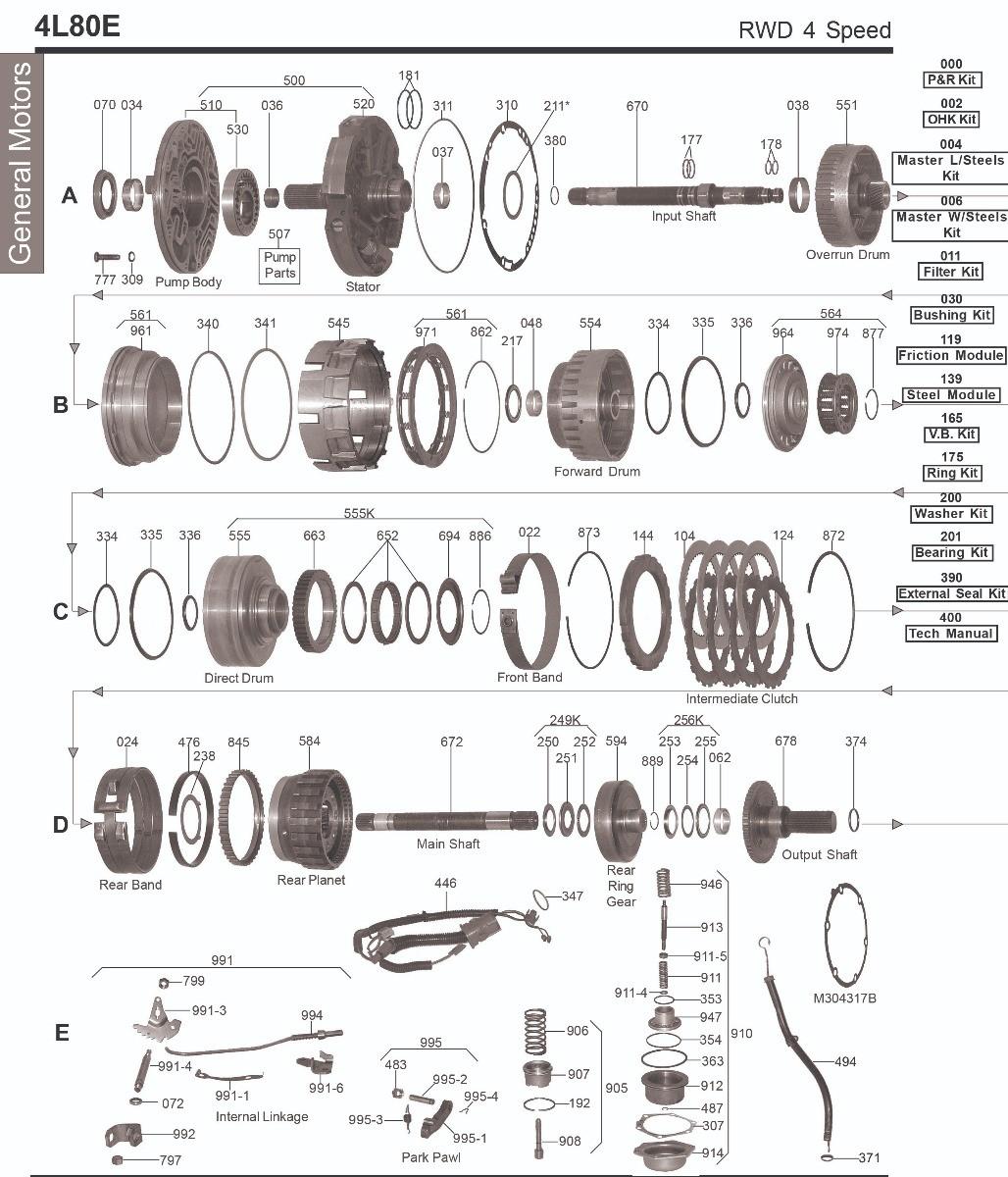 PISTON; 4L80E OVERRUN CLUTCH BONDED RUBBER 1991-UP